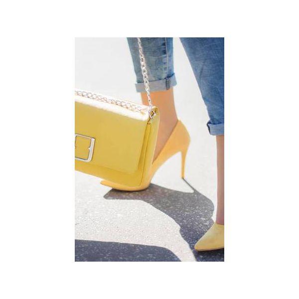 7ae0d45b090b1 Skórzana FIRUZE m. żółta skóra licowa - Torebki klasyczne marki ...