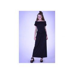 96273f0ed8 Sukienka maxi krótki rękaw - Sukienki - Kolekcja wiosna 2019 - Sklep ...
