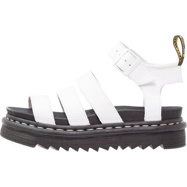Oryginał Dr. Martens BLAIRE Sandały na platformie white - Białe sandały AN23