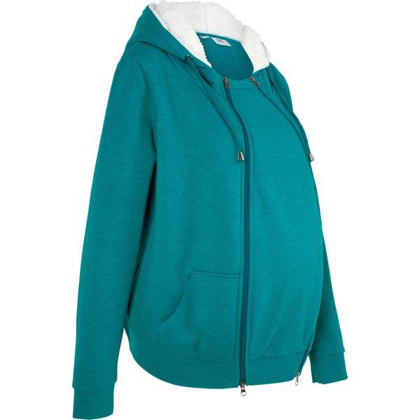 63c8ed7d89d689 Bluza rozpinana ciążowa z wstawką niemowlęcą i miękką spodnią stroną ...