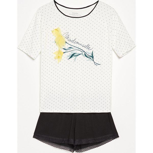 74cf3f3e333607 Piżama z szortami - Biały - Białe piżamy Reserved. W wyprzedaży za ...