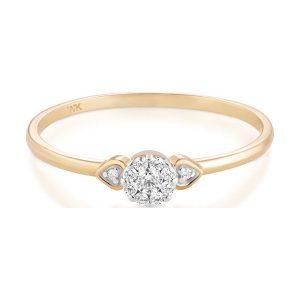 c461d425c0b5fe Żółte pierścionki W. PROMOCJA Pierścionek Złoty - złoto żółte 375, Brylant  0,096ct. Żółte pierścionki W.