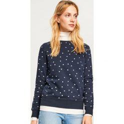 7abf427dc0 Bluza z domieszką bawełny organicznej - Granatowy. Niebieskie bluzy marki  Reserved