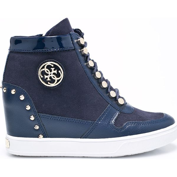 b4563317 Guess Jeans - Buty - Niebieskie obuwie sportowe Guess Jeans, z ...