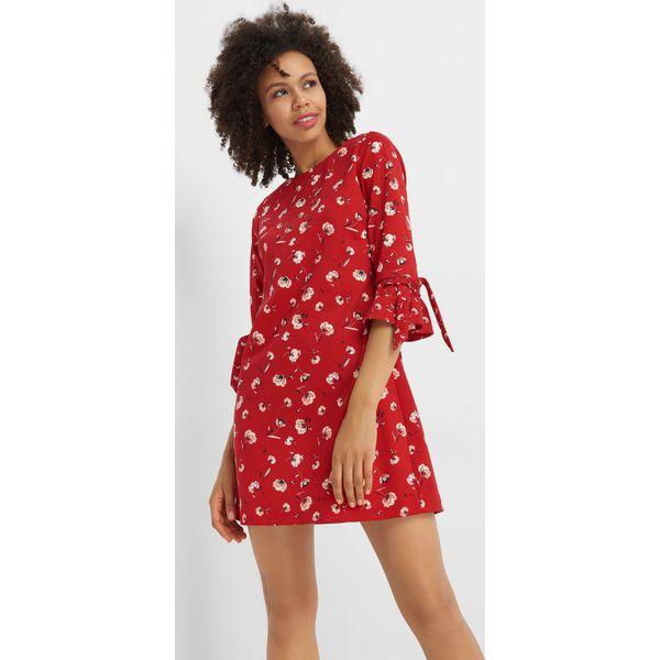 4ca62ce072 Sukienka mini w kwiaty - Czerwone sukienki marki Orsay