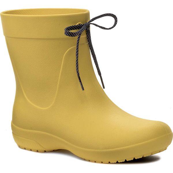 dc081e809db65 Kalosze CROCS - Freesail Shorty Rainboot 203851 Lemon - Kalosze ...