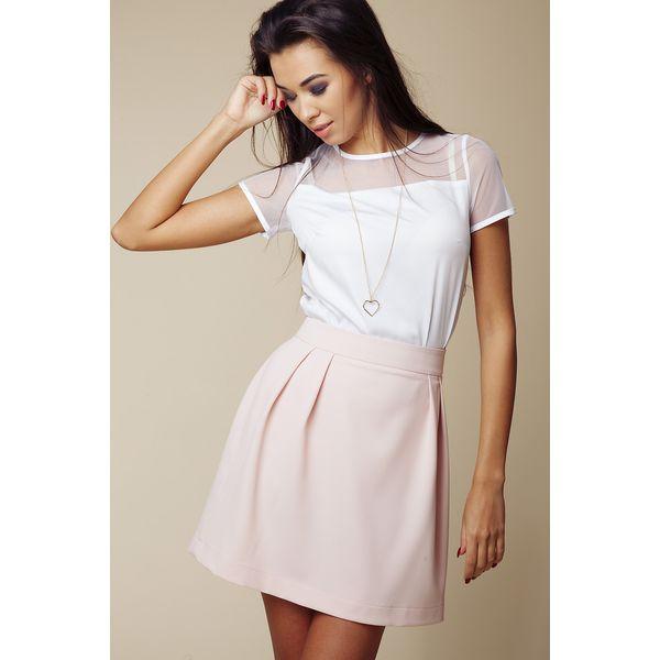 2128d1c6 Różowa Pastelowa Rozkloszowana Spódnica Mini