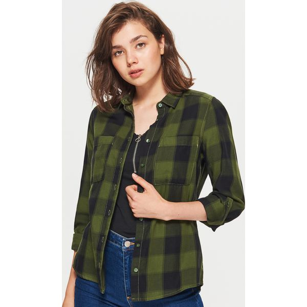 5444103bd755a0 Koszula w kratę - Khaki - Koszule marki Cropp. W wyprzedaży za 29.99 ...