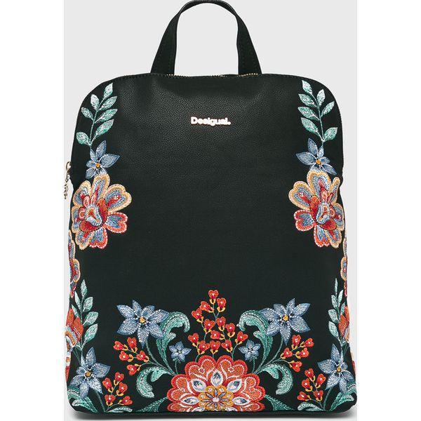 f5dc622158105 Desigual - Plecak - Czarne plecaki marki Desigual, z haftami, z ...