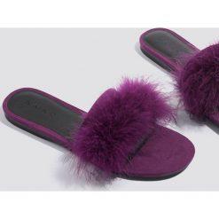 c3484b170fc9d ... NA-KD Shoes Letnie klapki Feather - Purple. Klapki marki NA-KD Shoes