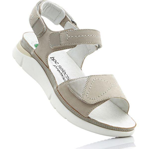44dc0da7674226 Wygodne sandały skórzane bonprix piaskowy - Sandały bonprix. Za ...