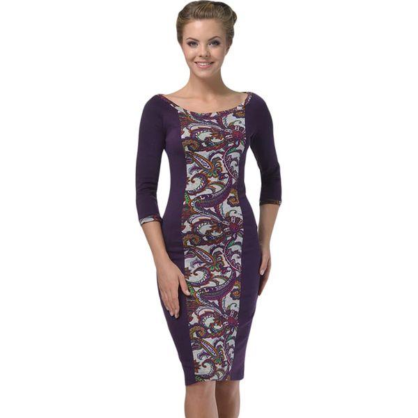 e726c54304 Sukienka w kolorze fioletowym ze wzorem - Fioletowe sukienki marki ...