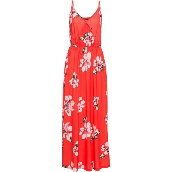 33d7e5a956 Sukienka na ramiączkach bonprix czerwony w kwiaty - Sukienki marki ...
