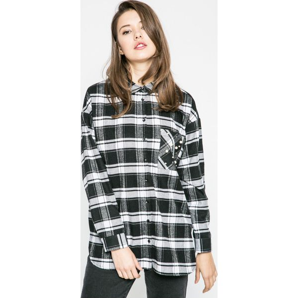 44a60c66783c1e Only - Koszula - Szare koszule marki Only, w kratkę, z bawełny ...