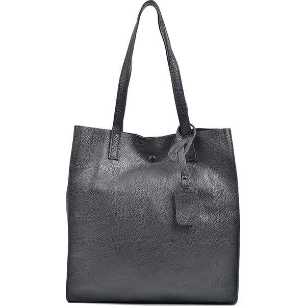 e8ae0bd67961f Skórzana torebka w kolorze czarnym - 33 x 31 x 9 cm - Czarne torebki ...