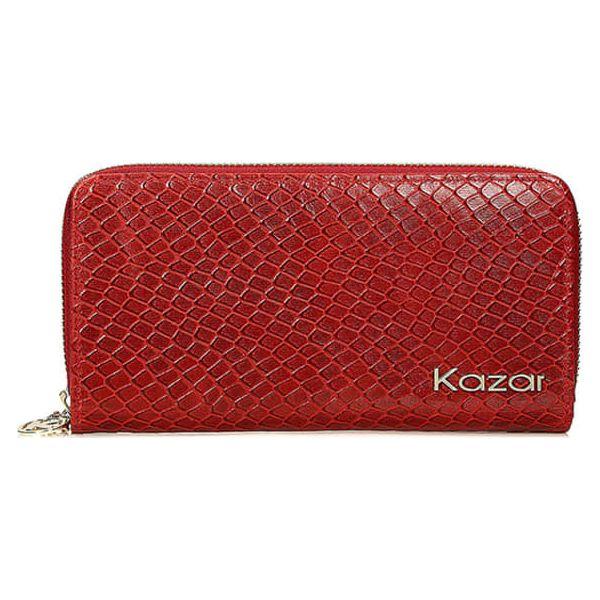 f6010ee95d435 Skórzany portfel w kolorze czerwonym - (S)19 x (W)10 cm - Portfele ...