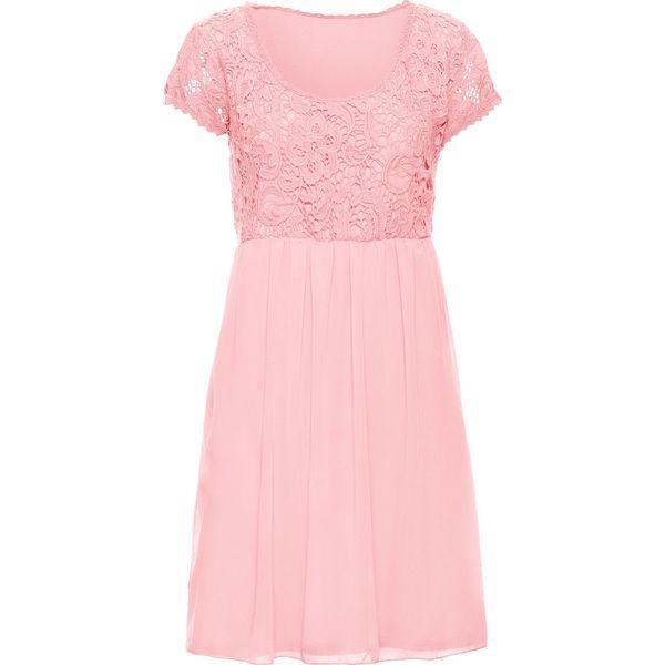 3207a72f48 Sukienka z koronką bonprix bladoróżowy - Sukienki marki bonprix. Za ...