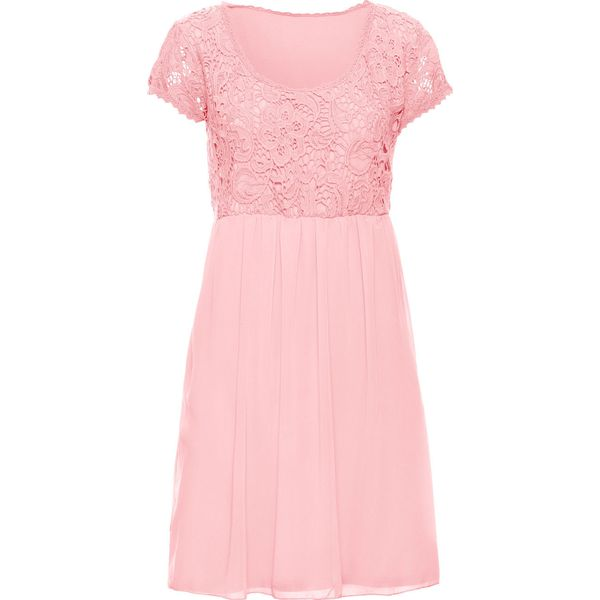 f36b606f2d Sukienka z koronką bonprix bladoróżowy - Sukienki marki bonprix. Za ...
