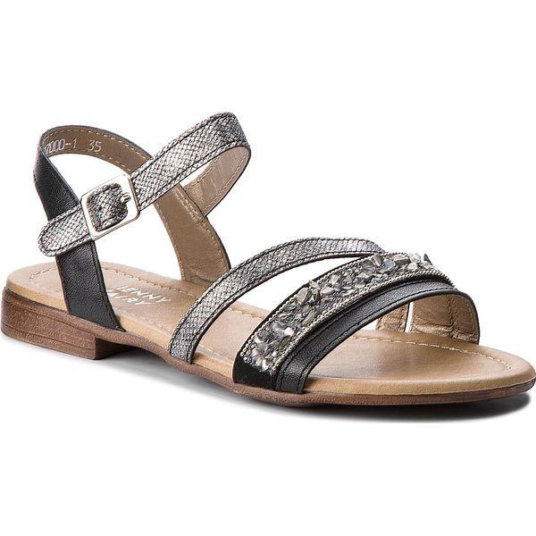 95a13e50 Sandały JENNY FAIRY - WS17000-1 Czarny - Czarne sandały Jenny Fairy ...