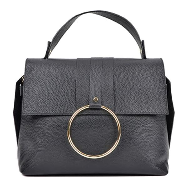 3689725aed3dd Skórzana torebka w kolorze czarnym - (S)26 x (W)32 x (G)11,5 cm ...