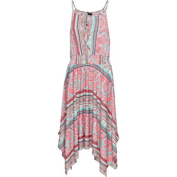 e9f4cb148a Sukienka z dżerseju z nadrukiem bonprix różowy z nadrukiem ...