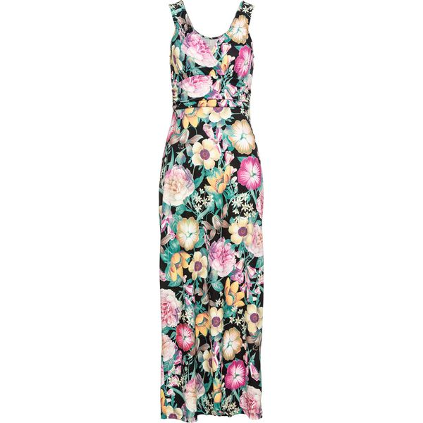 d882b3b53b Sukienka letnia w kwiaty bonprix czarno-jasnoróżowo-lila w kwiaty ...