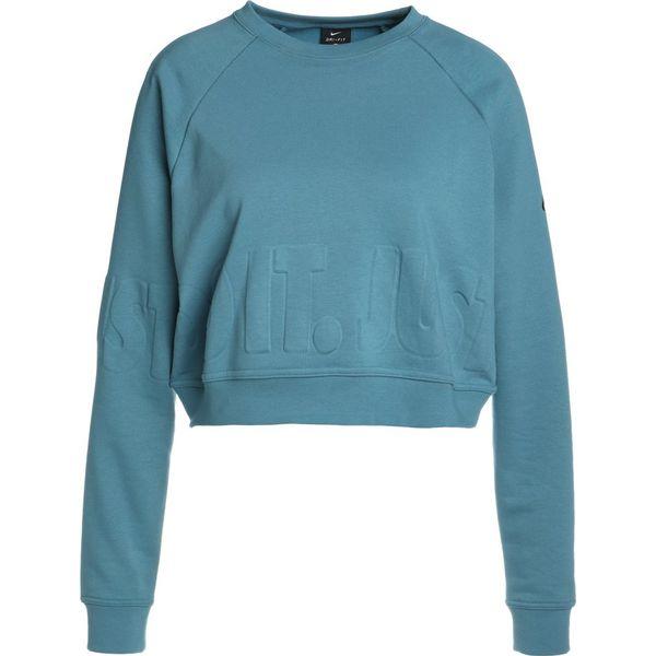 10ab4e6c0 Nike Performance VERSA Bluza noise aqua/black - Niebieskie bluzy ...