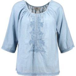 905e5afc07fd1 Noa Noa BASIC SLUB Bluzka blue shadow. Niebieskie bluzki marki Noa Noa, ...