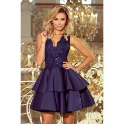 dfaf8ab972 Sukienka z koronką i falbanami sf-207. Sukienki marki SaF. W wyprzedaży za