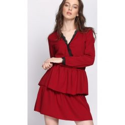 827f8e3e5a8275 Sukienka koronkowa czerwona dopasowana - Sukienki - Kolekcja lato ...