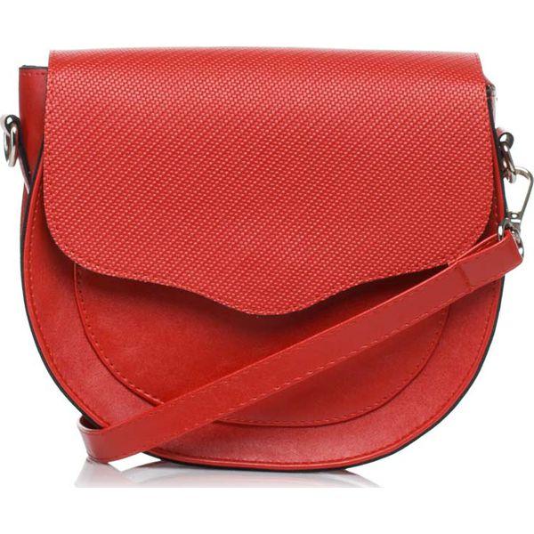 210af8e4e6d1a Czerwona Zaokrąglona Mała Torba Listonoszka - Czerwone torebki ...