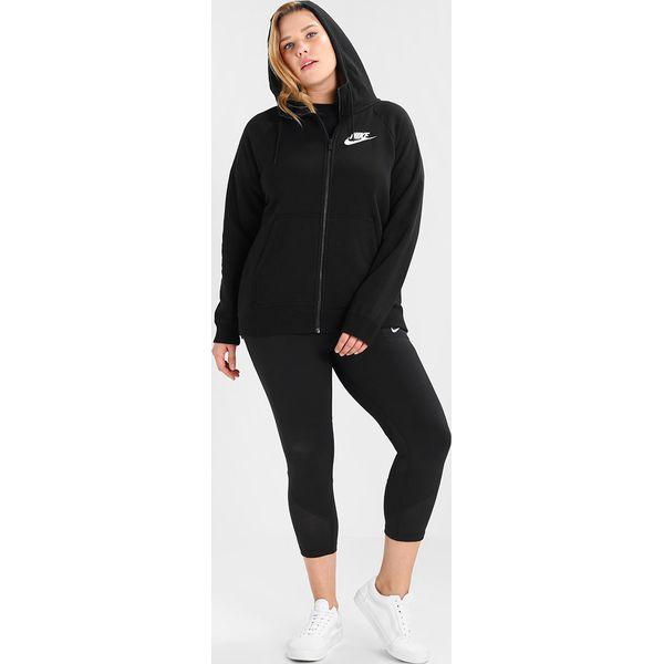 894186af2dcf26 Nike Sportswear RALLY HOODIE Bluza rozpinana black/white - Czarne ...