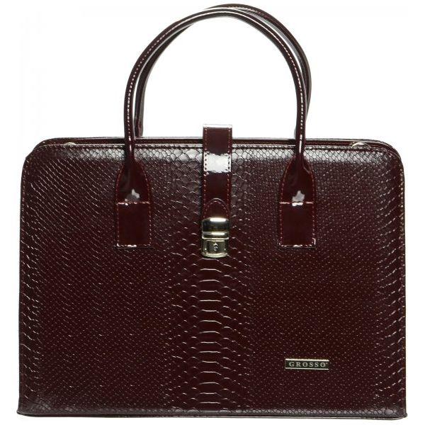39882c35e5c13 Grosso Bag Torebka Damska Burgund - Czerwone torebki klasyczne marki ...