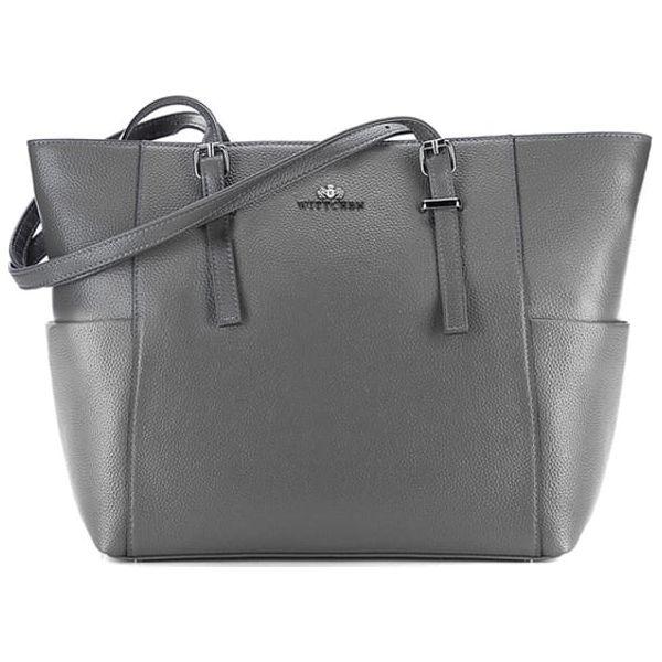cc6036aadf5ba Skórzana torebka w kolorze szarym - (W)29 x (G)15 cm - Szare torebki ...
