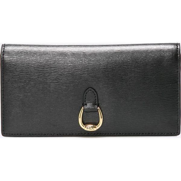 d6b66e6f1cdff Lauren Ralph Lauren - Portfel skórzany - Czarne portfele Lauren ...