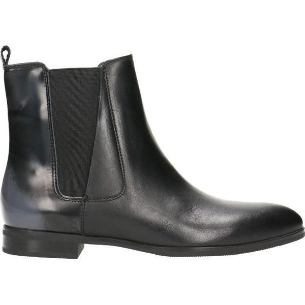 06cd51184d71c Sztyblety ALBA - Czarne botki marki Gino Rossi, z jeansu. W ...
