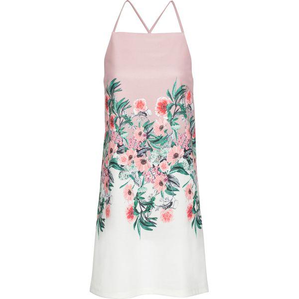 1f2973025d Sukienka na ramiączkach bonprix różowobrązowy w kwiaty - Sukienki ...