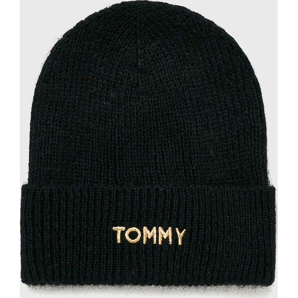 95191317 Tommy Hilfiger - Czapka - Czarne czapki marki TOMMY HILFIGER, z ...