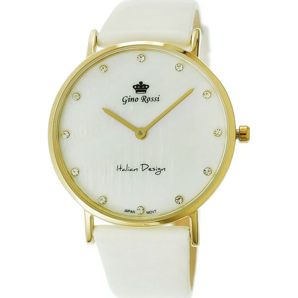 b6ba198d0acc6 Zegarek Gino Rossi damski Lozanna II biały (11015A-3C2) - Białe ...