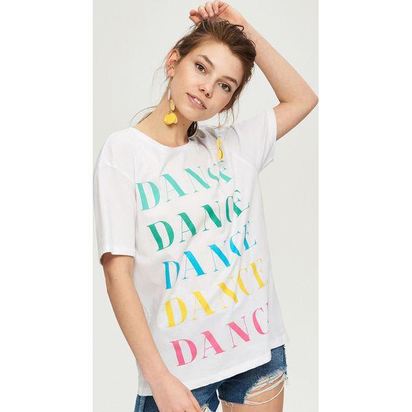 c0c5f1f07f T-shirt z nadrukiem świecącym w ciemności - Biały - Białe t-shirty ...