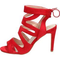Damskie Czerwone Sandały Enthusia Czerwony Materiał