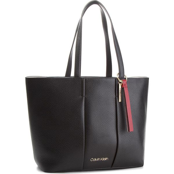 2ef0a61d11ee8 Torebka CALVIN KLEIN - City Leather Shopper K60K604476 001 - Czarne ...