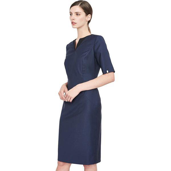 efc59952aa Sukienka w kolorze grantowym - Niebieskie sukienki marki Simple