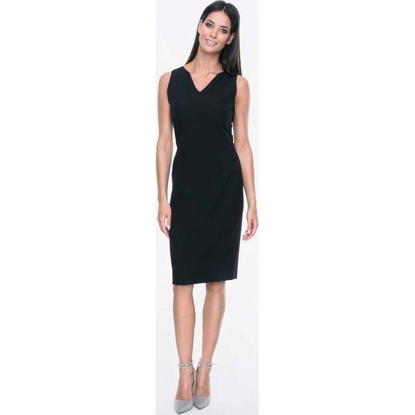 2615a2d4dd Czarna Sukienka bez Rękawów z Dekoltem w Serek - Czarne sukienki ...