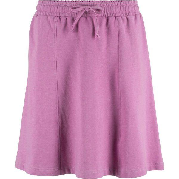 9b90fb1019a5 Spódnica dresowa bonprix matowy jeżynowy melanż - Spódnice marki ...