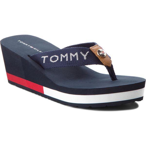 428ca078e7d14 Japonki TOMMY HILFIGER - Corporate Beach Sandal FW0FW02958 Midnight ...