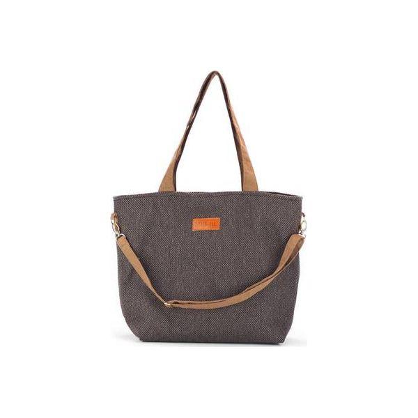 3dcfbf4ec8586 Duża torba typu shopper Mili Duo Braid MDB1 - brown - Shopper marki ...
