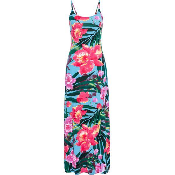 bd271dd6f8 Długa sukienka bonprix niebieski w kwiaty - Sukienki marki bonprix ...